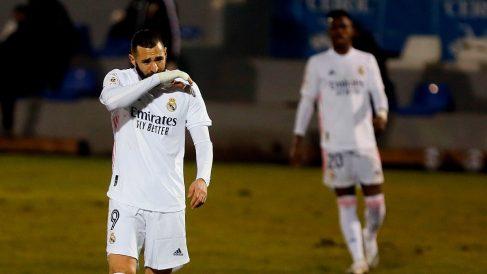 Benzema, en el partido ante el Alcoyano. (EFE)