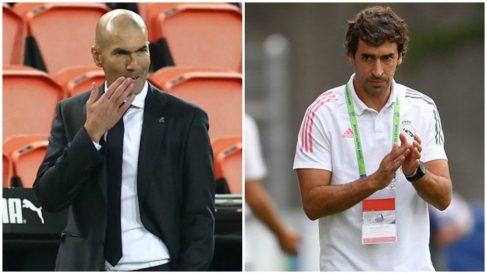 Zinedine Zidane y Raúl González, positivos por coronavirus en el Real Madrid.