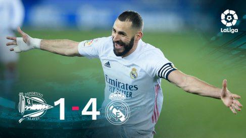 El Real Madrid se impuso 1-4 al Alavés.