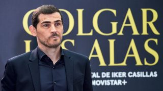 Iker Casillas, en la presentación del documental 'Colgar las alas'. (Getty)