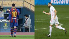 Messi y Benzema. (AFP)