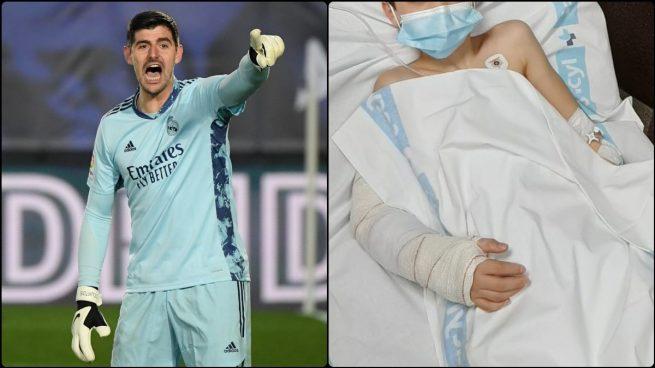 Courtois El Detallazo Del Portero Del Real Madrid Con Un Niño Que Se Rompió El Brazo Jugando A Fútbol