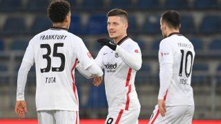 Luka Jovic celebra un gol con el Eintracht de Frankfurt. (Getty)