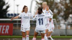 Las jugadoras del Real Madrid Femenino celebran un tanto. (@realmadridfem)