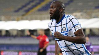 Lukaku celebra un gol con el Inter. (AFP)