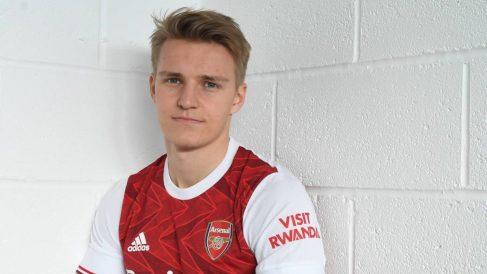 Ödegaard, cedido en el Arsenal. (arsenal.com)