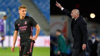 Odegaard y Zidane.