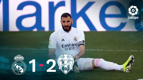 El Real Madrid cayó 1-2 ante el Levante.