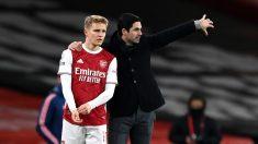 Martin Odegaard, antes de su debut con el Arsenal. (Getty)
