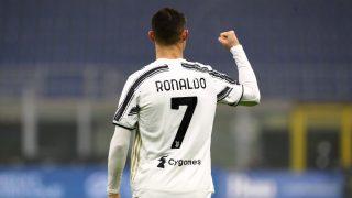 Cristiano Ronaldo celebra uno de sus tantos. (Getty)