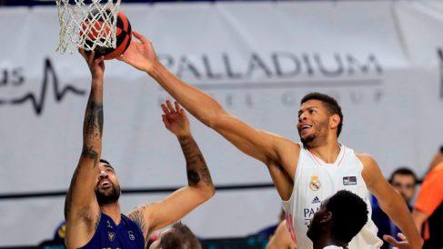 El Real Madrid venció al UCAM Murcia en el Wizink. (EFE)