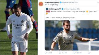 Eden Hazard y el tuit de Burger King.