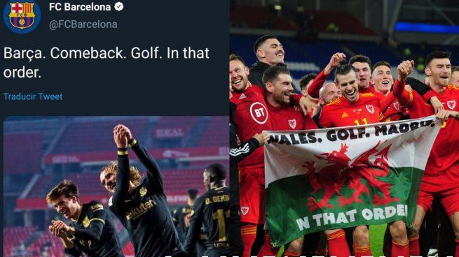 El Barcelona trolea al Real Madrid recordando a Bale… y borra el tuit