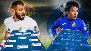 Real Madrid y Getafe se enfrentan en el Di Stéfano.