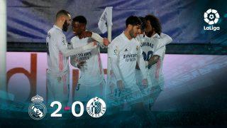 El Real Madrid se impuso 2-0 al Getafe.