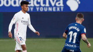 Marvin durante el partido entre Huesca y Real Madrid. (realmadrid.com)