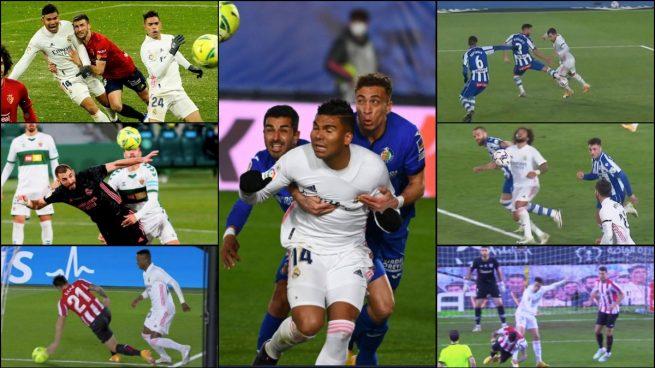 Los ocho penaltis que le han quitado al Real Madrid desde el Camp Nou