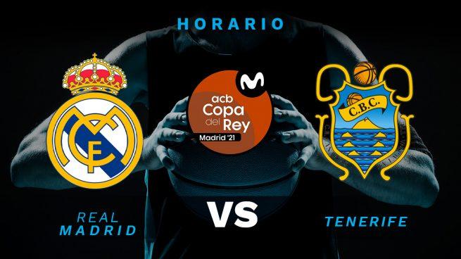 Real Madrid – Lenovo Tenerife: horario y dónde ver la Copa del Rey de Baloncesto hoy en directo por televisión
