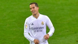 Lucas Vázquez, durante un partido del Real Madrid (AFP).