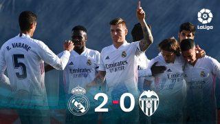 El Real Madrid se impuso 2-0 al Valencia.