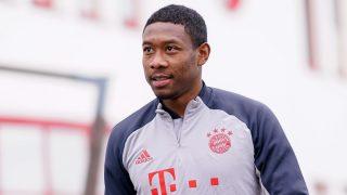 David Alaba, en un entrenamiento con el Bayern. (Getty)