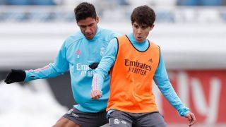 Lorenzo Aguado y Varane, en un entrenamiento.
