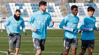 Theo Zidane se entrenó con el primer equipo.