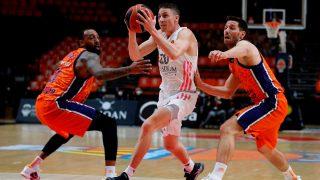 Carroll en un partido ante Valencia Basket. (EFE)