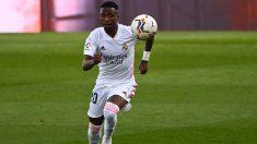 Vinicius, en el partido ante el Valencia (AFP).