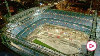 Así de espectacular luce el nuevo Bernabéu en un vídeo 8K.