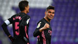 Casemiro celebra un gol con el Real Madrid. (AFP)