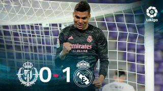 El Real Madrid venció 0-1 al Valladolid.