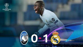 El Real Madrid ganó 0-1 al Atalanta con gol de Mendy.