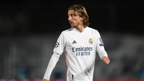 Modric, durante un partido del Real Madrid. (Getty)