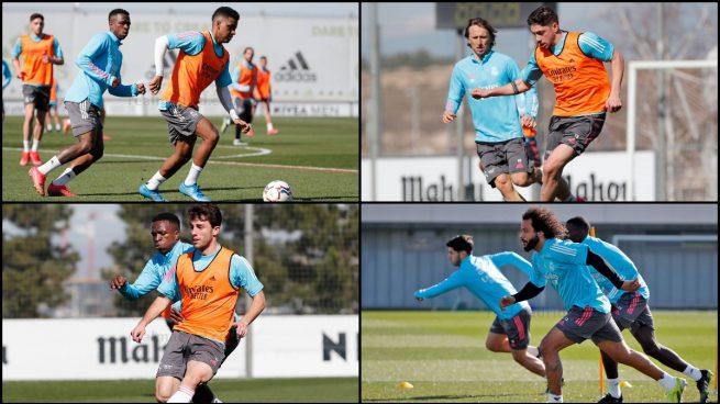 Valverde, Marcelo, Rodrygo y Odriozola se entrenan con el grupo