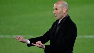 Zidane durante un partido del Real Madrid. (AFP)
