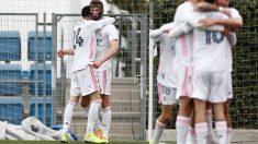 Latasa celebra un gol con el Castilla (Realmadrid.com)