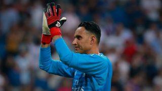 Keylor Navas, en un partido con el Real Madrid. (Getty)