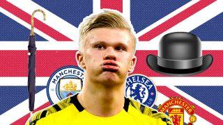 Los rivales por Haaland están en Inglaterra.