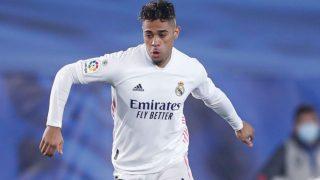 Mariano durante un partido de Liga con el Real Madrid. (realmadrid.com)