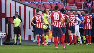 Hernández Hernández, en plena revisión. (Getty)