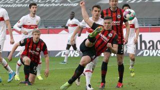 Luka Jovic, en un partido con el Eintracht. (AFP)