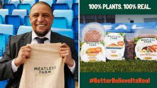 Roberto Carlos, en la presentación de Meatless Farm como nuevo patrocinador del Real Madrid (Real Madrid)