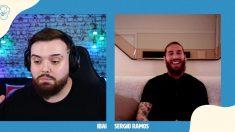 Ibai Llanos entrevista a Sergio Ramos en Twitch, en directo