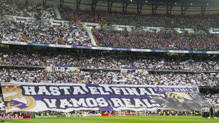 El Santiago Bernabéu durante un derbi la pasada temporada (AFP)