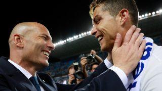 Zinedine Zidane y Cristiano Ronaldo. (Getty)