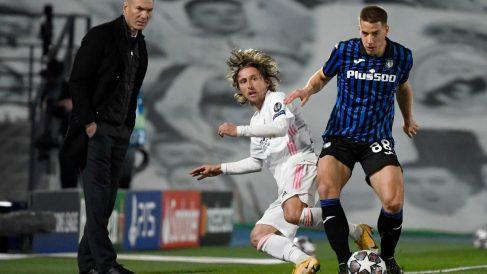 Luka Modric fue el referente contra Atalanta. (AFP)