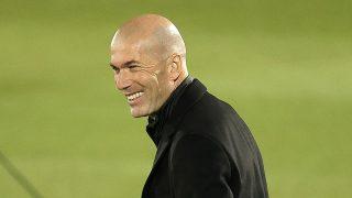 Zidane, durante el encuentro ante el Atalanta (Getty).