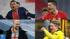 PSG, Bayern, City y Dortmund estarán en cuartos de final.