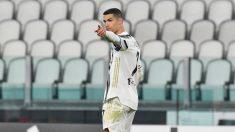 Cristiano Ronaldo, tras marcar un gol con la Juventus. (AFP)